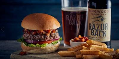 Tender Beef Burger with Ringwood Brewery