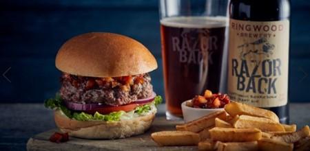 Tender Beef Burger with Ringwood Brewery