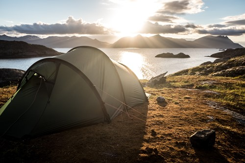 Tent by the sea