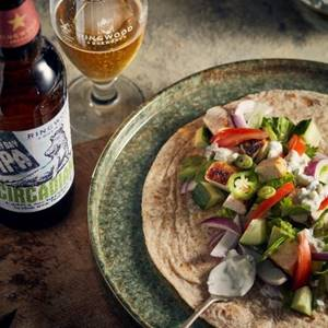 Tandoori Wrap for the BBQ with Ringwood Brewery