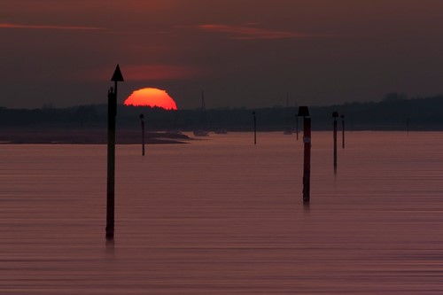 Lepe Country Park, sunset