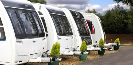 Caravans lined up